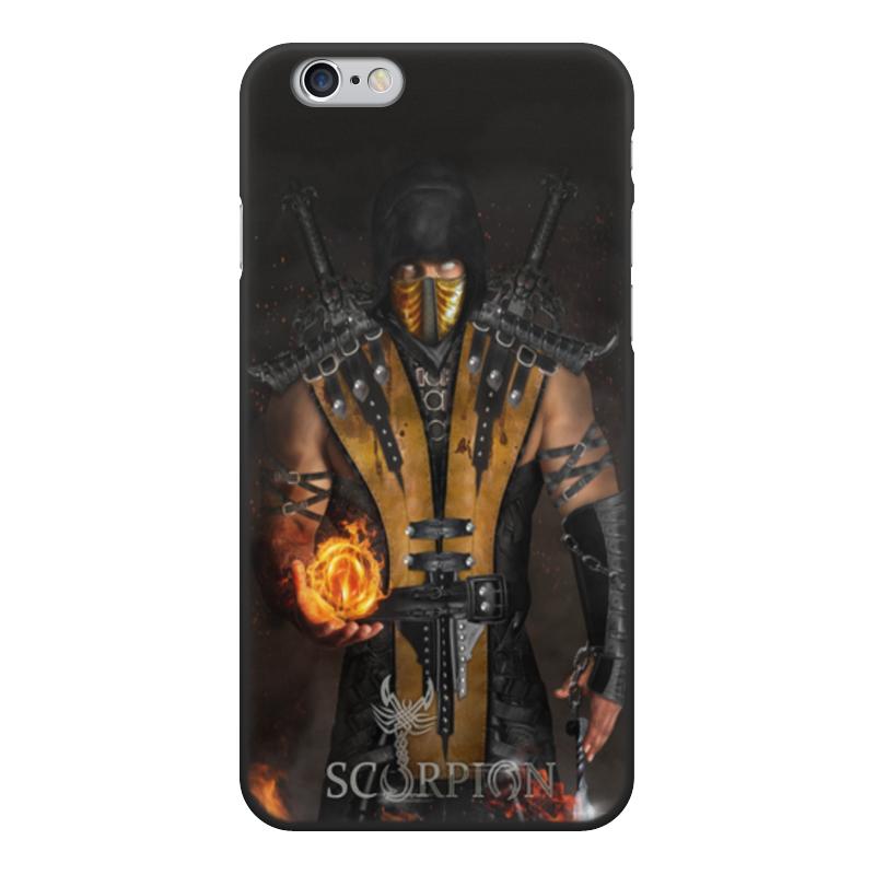 лучшая цена Чехол для iPhone 6, объёмная печать Printio Mortal kombat (scorpion)