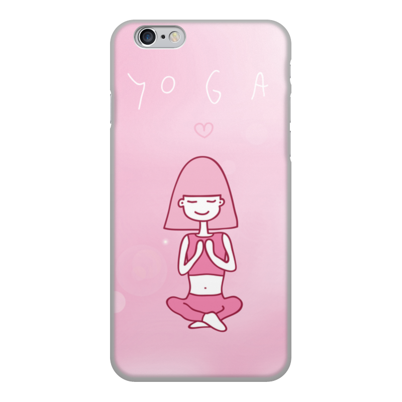 купить Чехол для iPhone 6, объёмная печать Printio Yoga and love онлайн