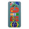 """Чехол для iPhone 6, объёмная печать """"BRICS - БРИКС"""" - россия, китай, индия, бразилия, юар"""