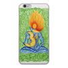 "Чехол для iPhone 6, объёмная печать ""Медитация на Ом (Аум)"" - йога, медитация, индия, индуизм, мантра"
