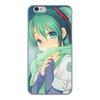 """Чехол для iPhone 6, объёмная печать """"Miku Hatsune Sush"""" - аниме, hatsune, мику, бесконечное лето, miku"""