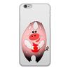"""Чехол для iPhone 6, объёмная печать """"Свинни Хрю с елочной игрушкой"""" - праздник, арт, новый год, поросенок, год свиньи"""