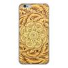 """Чехол для iPhone 6, объёмная печать """"Золотая мандала"""" - цветы, узор, мандала, индийский, мехенди"""