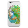 """Чехол для iPhone 6, объёмная печать """"Индийский символ счастья"""" - узор, животные, индия, индийский, мехенди"""