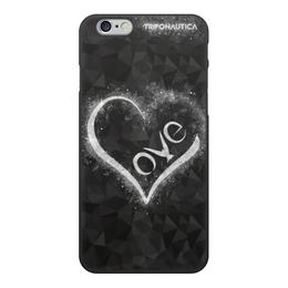 """Чехол для iPhone 6, объёмная печать """"iLove Black"""" - сердце, любовь, день святого валентина, 8 марта, подарок"""