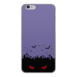 """Чехол для iPhone 6, объёмная печать """"Взгляд оттуда"""" - хэллоуин, рисунок, взгляд, летучие мыши, кладбище"""