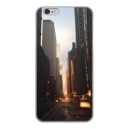 "Чехол для iPhone 6, объёмная печать ""New York after rain"" - city, sunset, rain, newyork, ньюйорк"