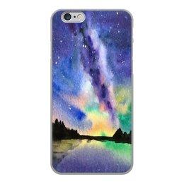"""Чехол для iPhone 6, объёмная печать """"Природа"""" - звезды, небо, краски, природа, пейзаж"""