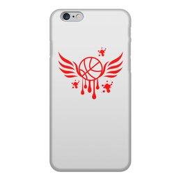 """Чехол для iPhone 6, объёмная печать """"Баскетбол"""" - крылья, спорт, мяч, баскетбол, тренировка"""
