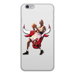 """Чехол для iPhone 6, объёмная печать """"Michael Jordan Cartooney"""" - 23, чикаго, бык, chicago bulls, джордан"""