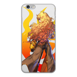 """Чехол для iPhone 6, объёмная печать """"RWBY, Янг"""" - аниме, rwby, red white black yellow, красный белый черный желтый, янг"""
