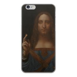 """Чехол для iPhone 6, объёмная печать """"Спаситель мира Леонардо да Винчи """" - арт, картина, живопись, леонардо да винчи, спаситель мира"""