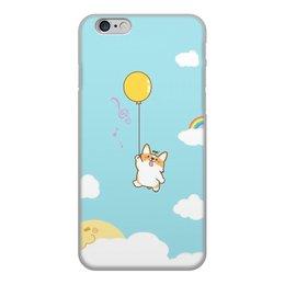 """Чехол для iPhone 6, объёмная печать """"Собака Корги"""" - животные, собака, корги"""