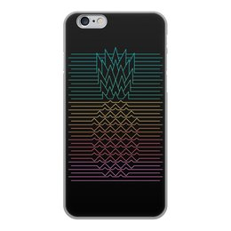 """Чехол для iPhone 6, объёмная печать """"Неоновый ананас """" - фрукты, ананас, неон, минимализм, линии"""
