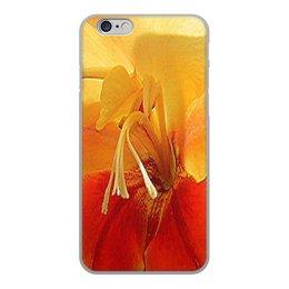 """Чехол для iPhone 6, объёмная печать """"Цветочный фреш."""" - краски, яркость, цвет, нежность, гладиолус"""