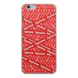 """Чехол для iPhone 6, объёмная печать """"Supreme"""" - надписи, бренд, brand, supreme, суприм"""