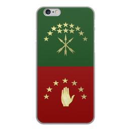 "Чехол для iPhone 6, объёмная печать ""Черкесия Абаза"" - абхазия, адыгея, черкесия, кчр, кбр"