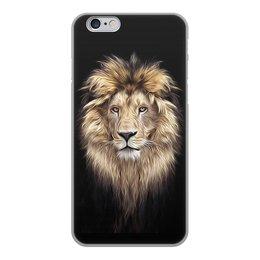 """Чехол для iPhone 6, объёмная печать """"ЛЕВ. ЖИВАЯ ПРИРОДА"""" - хищник, животные, стиль, красота, арт фэнтези"""