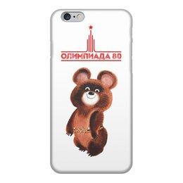 """Чехол для iPhone 6, объёмная печать """"Олимпиада 80"""" - ссср, мишка, ussr, страна, олимпийский мишка"""