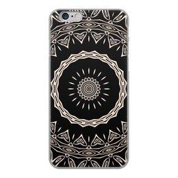 """Чехол для iPhone 6, объёмная печать """"Барабан"""" - музыка, подарок, абстракция, мандала, спектр"""