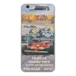 """Чехол для iPhone 6, объёмная печать """"Гран-при США 1971"""" - сша, гран-при"""