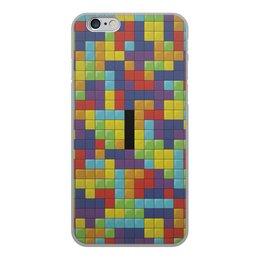 """Чехол для iPhone 6, объёмная печать """"Тетрис"""" - тетрис"""