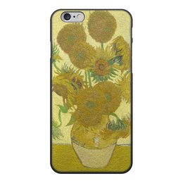 """Чехол для iPhone 6, объёмная печать """"Подсолнухи (Винсент Ван Гог)"""" - картина, ван гог"""