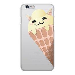 """Чехол для iPhone 6, объёмная печать """"Кото-мороженое"""" - кот, кошка, котик, мороженое, японский"""