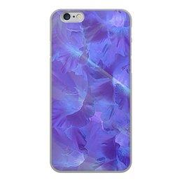 """Чехол для iPhone 6, объёмная печать """"Фиолетовый шик."""" - цветы, фиолетовый, шик, гладиолус, гладиолусы"""