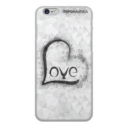 """Чехол для iPhone 6, объёмная печать """"iLove Light Grey"""" - сердце, любовь, день святого валентина, 8 марта, подарок"""