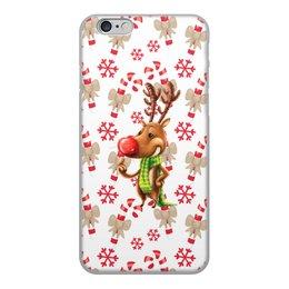 """Чехол для iPhone 6, объёмная печать """"новый год"""" - новый год, зима, подарки, снежинки, олень"""