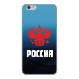 """Чехол для iPhone 6, объёмная печать """"Россия"""" - россия, герб, russia, орел, флаг"""