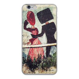 """Чехол для iPhone 6, объёмная печать """"Встреча"""" - отношения любовь встреча мужчина женщна, рисунок, марк шагал, абстракционизм, импрессионизм"""