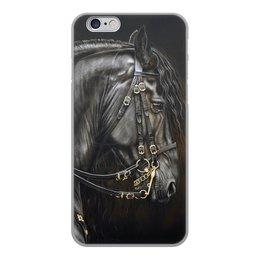 """Чехол для iPhone 6, объёмная печать """"Гладиаторский конь"""" - лошадь, поздравление, конь, телефон чехол, фото лошади"""