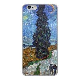 """Чехол для iPhone 6, объёмная печать """"Дорога с кипарисом и звездой (Винсент Ван Гог)"""" - картина, ван гог, живопись"""