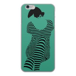 """Чехол для iPhone 6, объёмная печать """"""""Раздвоение личности"""""""" - настроение, оригинальный, хеллоуин, стройность, раздвоение личности"""
