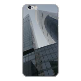 "Чехол для iPhone 6, объёмная печать ""Москва Сити"" - айфон, москва сити"
