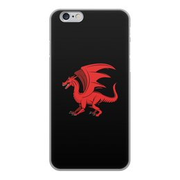 """Чехол для iPhone 6, объёмная печать """"дракон"""" - крылья, животные, дракон, dragon, динозавр"""