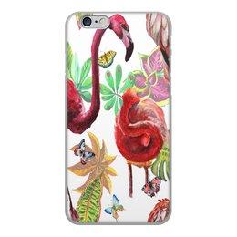 """Чехол для iPhone 6, объёмная печать """"Птица"""" - лето, птицы, природа, тропики, фламинго"""