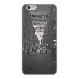 """Чехол для iPhone 6, объёмная печать """"I know my way (Stockholm)"""" - города, city, философия, travel, myway"""