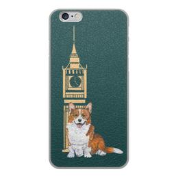 """Чехол для iPhone 6, объёмная печать """"Осень и корги"""" - животные, собака, рыжий, новыйгод, корги"""