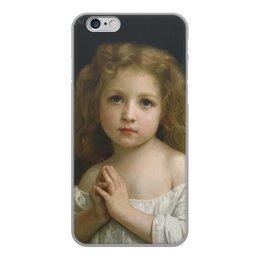 """Чехол для iPhone 6, объёмная печать """"Молитва (Вильям Бугро)"""" - картина, бугро"""