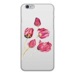 """Чехол для iPhone 6, объёмная печать """"Тюльпаны"""" - цветы, красный, весна, красивый, тюльпаны"""