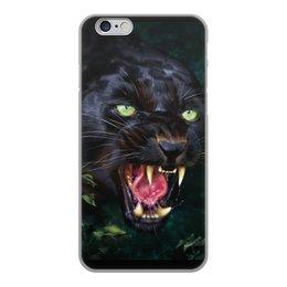 """Чехол для iPhone 6, объёмная печать """"ПАНТЕРА. ФЭНТЕЗИ"""" - стиль, глаза, красота, клыки, ярость"""