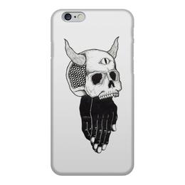 """Чехол для iPhone 6, объёмная печать """"Череп"""" - skull, череп, третий глаз, чёрные руки"""