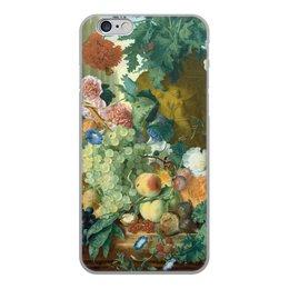 "Чехол для iPhone 6, объёмная печать ""Фрукты и цветы (Ян ван Хёйсум)"" - цветы, картина, живопись, натюрморт, ян ван хёйсум"