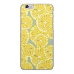 """Чехол для iPhone 6, объёмная печать """"лимоны"""" - лето, фрукты, лимон, лимоны, цитрусовые"""