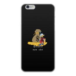 """Чехол для iPhone 6, объёмная печать """"Деньги не пахнут. Деньги. Скрудж Макдак. """" - цитаты, money, утиные истории, duck tales, скрудж макдак"""