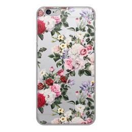 """Чехол для iPhone 6, объёмная печать """"цветы"""" - цветы"""