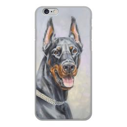 """Чехол для iPhone 6, объёмная печать """"ДОБЕРМАН"""" - арт, иллюстрация, собаки"""